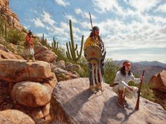 Sentinels of the Sonoran Desert - Apache Warrior painting | James Ayers Studios