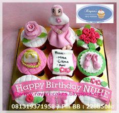 Girly Theme Birthday Cupcakes by Rayan Cakes