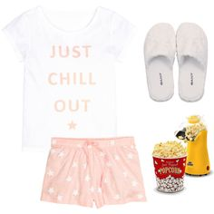sleep over!!!!!!  :-) by prettyiceballos on Polyvore featuring polyvore fashion style H&M GANT West Bend