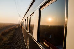 The Sun setting on a magical on Rovos Rail. From Cape Town to Pretoria. Victoria Falls, Pretoria, Cape Town, South Africa, Safari, Stairs, Journey, Train, Sunset