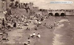 Historic Images of St. Ives, Cornwall, Cornwall, UK - A Sunny Corner St Ives Harbour.