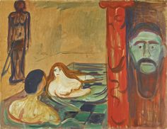 Munch, Edvard sjalusii badet(jealo | figures | sotheby's Painted in 1898-1900.