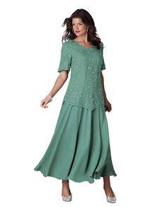 Plus Size Elegant Gray Chiffon Mother Of The Bride Dresses