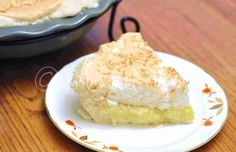 COCONUT MERINGUE - Any day or Any Holiday - Family Favorite for Sure!!!! NOTE: I DOUBLE the MERINGUE RECIPE for a very High Pie - IRRESITABLE