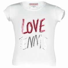 Little Miss Tennis Girl`s Love Tennis Tee White by Little Miss Tennis. $31.00. Fast Shipping. Order Today Ships Today Before 2PM CST. le This soft cotton tee features love tennis graphic on front written in colored sequins Hem vents. n each side provide a great fitFabric 95 Cotton 5 Spandex Color White. The Little Miss Tennis Girls Love Tennis Tee offers a cute and comfortable look with plenty of spark. The Little Miss Tennis Girls Love Tennis Tee offers a cute and comforta...
