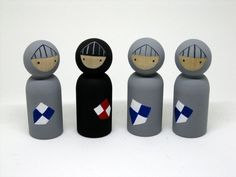 Noble Knights Peg Doll Playset READY TO SHIP by knottingwood on Etsy https://www.etsy.com/listing/268428646/noble-knights-peg-doll-playset-ready-to