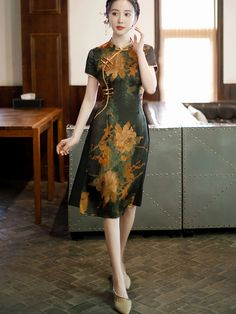 Shop Mother's Floral A-Line Cheongsam Qi Pao Dress at imallure.com. A wide collection of high quality qipao & cheongsam in various style. New arrivals daily. FREE INTERNATIONAL SHIPPING.
