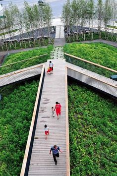 The development of the massive Qunli New Town in northern China let to the destruction of a wetland, which was then transformed by Turenscape into an urban storm water park. Click image for the full story, & visit the http://slowottawa.ca boards >> http://www.pinterest.com/slowottawa/