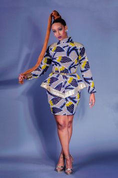 Ankara Peplum Kitenge Peplum: modele pagne africain