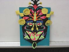 Tribal Mask made of cut paper