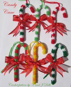 Christmas ornaments crochet pattern ~ Amigurumi crochet patterns ~ K and J Dolls / K and J Publishing