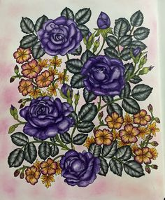 #blomstermandalamålarbok #mariatrolle #mycolouringmood  done! Used medium staedler karat n soft pastel for background