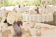 pink and white classic Southern reception,