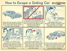 How to Escape a Sinking Car: An Illustrated Guide