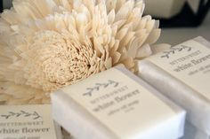 New White Flower Savon by Bittersweet Soap & Apothecary Skincare Packaging, Soap Packaging, Packaging Ideas, Apothecary, Soaps, White Flowers, Bar, Soap, Hand Soaps