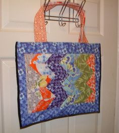 One of a kind Chevron Patchwork large by fionascardsandgifts, £40.00