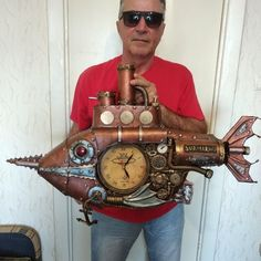Steampunk Clock, Wood Watch, Accessories, Style, Steampunk Watch, Wooden Clock, Swag, Outfits, Jewelry Accessories