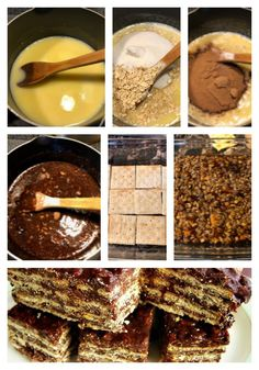 turrón avena, turron quaker, avena, chocolate Sweet Recipes, Healthy Recipes, Sweet Cakes, Easy Desserts, Bakery, Cheesecake, Food And Drink, Tea Time, Meals