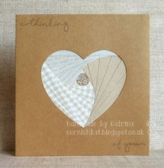 Katrina's Crafting Blog: Iris Folding card made with papers from stash and an X-cut heart die