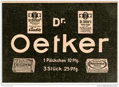 Original-Werbung/Inserat/ Anzeige 1912 - DR.OETKER - ca. 180 x 130 mm