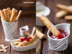 Süße Pommes / Pie Fries mit Erdbeersauce
