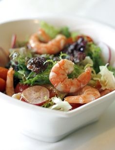 Seafood is rich in vitamins and minerals! Try a seafood salad for a protein packed lunch!