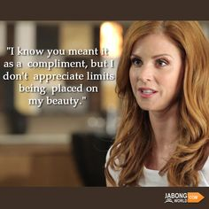 We love Donna! :D Who is with us? #JWQuotes #Quotes #SarahRafferty #Suits