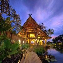 Exotic beach villa in Bali Indonesia