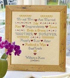 I Do Wedding Sampler Cross Stitch Kit