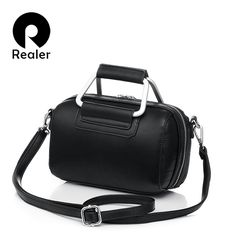 REALER Brand Fashion Mini Women Handbag With Metal Handle High quality Pu Leather Women Shoulder Bag  Pillow Style Lady Tote-in Top-Handle Bags from Luggage & Bags on Aliexpress.com | Alibaba Group