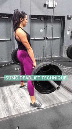 Biggest advice: do not try to squat the deadlift. Keep in mind the hip hinge and squeezing the hips into the bar to lock out! Gym Workout Videos, Best Workout Plan, Gym Workouts, Barbell Deadlift, Barbell Exercises, Fitness Workout For Women, Glutes, Workout Programs, Squat