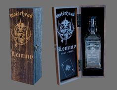 Lemmy Motorhead - Jack Daniels Presentation Box + Engraved JD Bottle, FREE Post