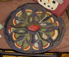 Prairie Hooked Chair Pad From A Simpler Time