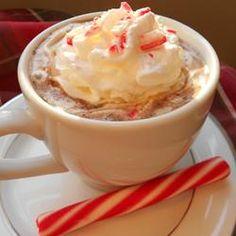 Candy Cane Cocoa Allrecipes.com