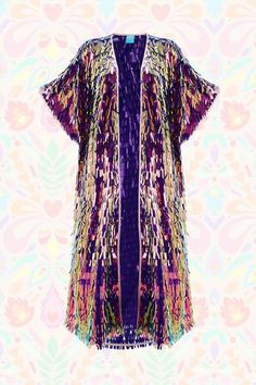 The Alchemist Sequin Kimono Sequin Kimono, Sequin Jacket, Music Festival Outfits, Festival Fashion, Kimono Outfit, Kimono Top, Sequin Coats, Festival Sunglasses, Sparkle Outfit