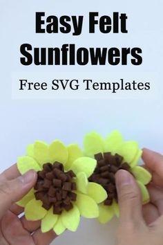 Felt Flower Template, Sunflower Template, Felt Flower Tutorial, Felt Templates, Templates Printable Free, Applique Templates, Bow Tutorial, Applique Patterns, Card Templates