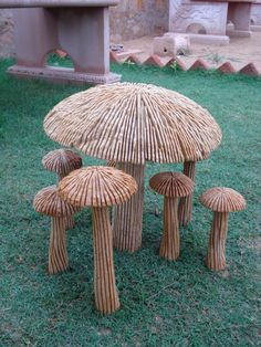 Items similar to Garden Statue-Mushroom on Etsy Vsco, Blossom Garden, Moon Garden, Vegetable Garden Design, Balcony Design, Garden Statues, Garden Furniture, Stuffed Mushrooms, Gardening