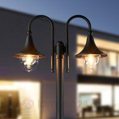 2-lichts lantaarnpaal Lilou van aluminium veilig & makkelijk online bestellen op lampen24.nl