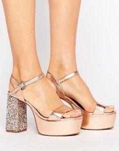 44588797105 Tacones con plataforma y adornos HIERARCHY de ASOS Zapatos De 15 Años