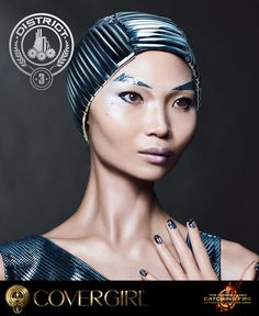 Explore COVERGIRL's District 3 look, inspired by The Hunger Games: Catching Fire   the NEW Capitol Makeup Collection.