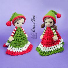 Jingle and Belle Santa's Helper Lovey / par oneandtwocompany