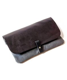 Gray & Black Clutch |Pinned from PinTo for iPad|