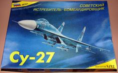 Sukhoi Su-27 (Russian Су-27) Fighter Aircraft Model Kit, 1/72 Scale.