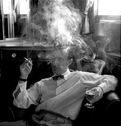 Untitled, Man Drinking and Smoking, 1959