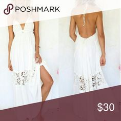 Sexy Women Maxi Long Lace Cocktail Evening Party D Fashion design,100% Brand New,high quality! Material: Cotton Blend Color: White Style: Sexy Club Evening Party Summer Beach Size: S, M, L can be sent out February Dresses Maxi