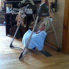Life saver! Graco baby swing