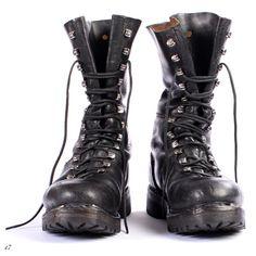 Mens Vintage Combat Boots