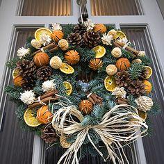 Christmas Scented Fresh Fir Door Wreath - garden & outdoors