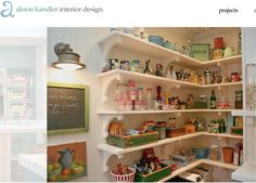 beautiful pantry alison handler Love the chunky brackets!
