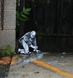 Joe Iurato Minimizes the Figures, Maximizes the Adventures - Brooklyn Street Art